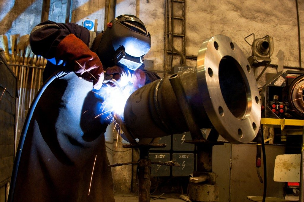welder wearing safety equipment