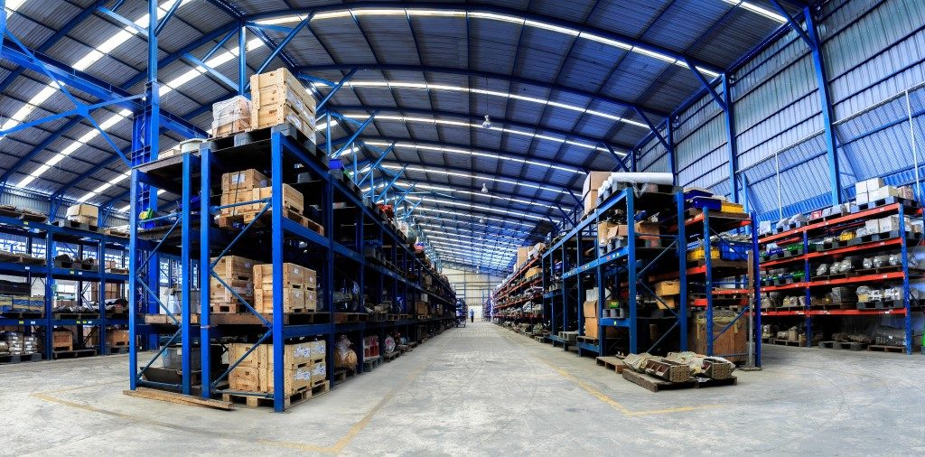 Fully stocked warehouse